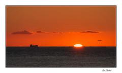 La pêche de nuit (Rémi Marchand) Tags: coucherdesoleil sunset bateau chalutier pêche horizon etretat hautenormandie seinemaritime france canoneos7d mer manche seascape soleil sun nightfishing tramonto