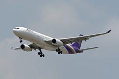 Thai Airways Airbus A330-343 HS-TBE Sakon Nakhon สกลนคร (EK056) Tags: thai airways airbus a330343 hstbe sakon nakhon สกลนคร bangkok suvarnabhumi airport