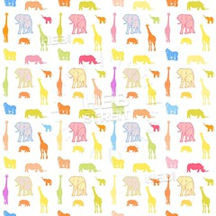 Seamless bright wild animals pattern (Hebstreits) Tags: african animal animals baby babyrhino background bear boy bright cartoon child childelephant children colorful cute decoration design drawing elephant forest fox giraffe gorilla graphic happy illustration jungle kid kids monkey paper pattern print rhino safari seamless sloth stye textile texture tiger tree vector wallpaper wild wildlife woodland zoo