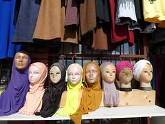 Etalage (Merodema) Tags: koppen headz faces gezichten mannequins hoofddoeken