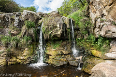 Beach Fall (Antony Fleming) Tags: northyorkshiremoors cloughton hayburnwyke waterfall stream rocks