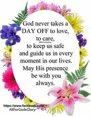 God never takes a day off (quotesoftheday) Tags: god never takes day off delivered by feed43 service