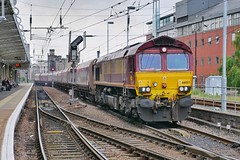 Margam via Tees?? (JohnGreyTurner) Tags: br rail uk railway train transport tyneside diesel engine locomotive ews dbs dbc db 66 class66 shed hoppers coal freight