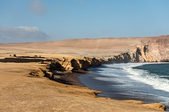 Red beach of Paracas reserve, Peru (Inti Runa) Tags: canoneos5dmarkiv paracas peru seascape canonef70200mmf4lisii