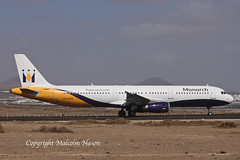 A321 G-OJEG MONARCH old colours (shanairpic) Tags: jetairliner passengerjet a321 airbusa321 monarch olympus gojeg sxacp