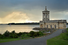 Sunset and storms over Rutland (Drew Scott :))) Tags: outdoor england rutland rutlandwater normanton normantonchurch water lake reservoir boat sail yacht church path garden shore rock clouds rain sunset nature nikon d3200 35mm
