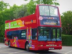 Transdev York 4018 (V518ESC) - 23-05-19 (peter_b2008) Tags: transdevyork citysightseeing lothianbuses dennis trident plaxton president opentop tourbus 4018 518 v518esc york buses coaches transport