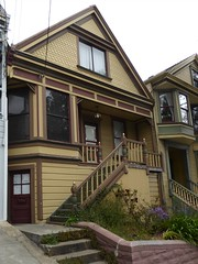 San Francisco, CA, Noe Valley, Victorian Residence (Mary Warren 13.5+ Million Views) Tags: sanfranciscoca noevalley nature flora plants green leaves foliage architecture building house residence victorian