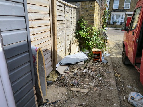 Waste dumping in the alley between Scales Road & Mitchley Road, Tottenham N17 # 2