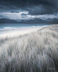 Dunes at Luskentyre (Chris Davis Photography) Tags: grass movement moody clouds whitesand ocean waves mountains scotland outerhebrides isleofharris ngo