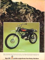 1972 Harley-Davidson Baja 100 Motorcycle Advertisement Hot Rod Magazine May 1972 (SenseiAlan) Tags: 1972 harleydavidson baja 100 motorcycle advertisement hot rod magazine may