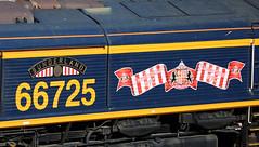 66725 Sunderland AFC GM Class 66 (Keith B Pics) Tags: keithbpics 66725 gbrf sunderland peakforest class66 diesel sunderlandafc
