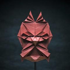 Mask - Angry demon (pierreyvesgallard) Tags: origami mask demon devil portrait face geometric paper