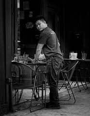 GR III (daveson47) Tags: eyecontact candid people mono monochrome bw blackandwhite urban city minneapolis cafe ricoh ricohgriii griii street streetphotography