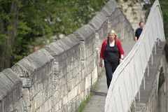 Walking the walls at York (Tony Worrall) Tags: york yorkshire yorkshirephotos northyorkshire english tourist iconic relic past olden visit north update place location uk england area attraction open stream tour country item greatbritain britain british gb capture buy stock sell sale outside outdoors caught photo shoot shot picture captured ilobsterit instragram woman wall walk walkway yorkwalls yorkcitywalls