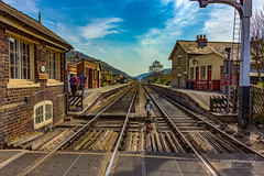 Levisham 19 April 2019 00004.jpg (JamesPDeans.co.uk) Tags: sunny levisham landscape signalbox rails windows weather unitedkingdom britain wwwjamespdeanscouk chimneys landscapeforwalls jamespdeansphotography uk digitaldownloadsforlicence lamp forthemanwhohaseverything england doors gb greatbritain transporttransportinfrastructure railwaystation platform ladder yorkshire building vanishingpoint bluesky printsforsale architecture railway sun objects europe station
