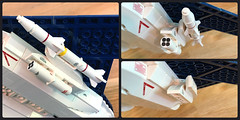 Weapon pylons (Red Spacecat) Tags: weaponpylons missile rocketpod lego moc peregrine cfx7 military aircraft airplane airforce fighter fighterjet jet