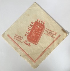 DOMINO CLUB SAN FRANCISCO CALIF (ussiwojima) Tags: thedominoclub club bar cocktail lounge sanfrancisco california advertising napkin