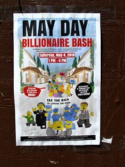 May Day (knightbefore_99) Tags: vancouver awesome art cool best street eastvan bc canada great commercialdrive class war billionaire bash may day protest poster