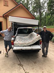Don & Lonny help Emergency Committee move bed
