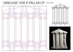 ORIGAMI - THE 4TH PILLAR CP (Neelesh K) Tags: 4 pillars democracy origami 32 grids boxpleating paperfolding neeleshk