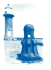 Whitby Pier (oldeyes47) Tags: cyanotype whitby alternativephotography