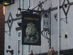 English Pub Sign - The Golden Lion, Cheshire (big_jeff_leo) Tags: pub pubsign publichouse sign england english street painted