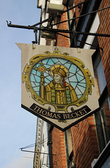 English Pub Sign - Thomas Becket, Canterbury (big_jeff_leo) Tags: pub pubsign publichouse sign england english street painted