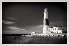 Let there be light! (Andy J Newman) Tags: monochrome bw bandw blackandwhite coast d810 dorset lighthouse longexposure nikon portland sea seaside isleofportland england unitedkingdom