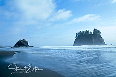 Sea Stacks at 2nd Beach (Stu Estes) Tags: unitedstates washington olympics
