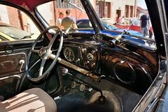 Peugeot, 302 (France, 1936 - 1938) (Cletus Awreetus) Tags: peugeot 302 automobile voitureancienne vintage car voituredecollection voiture collection noir 862ae65 tableaudebord dashboard intérieurdevoiture volant levier parebrise cadran pédale