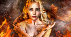 Queen of ashes (meriluu17) Tags: daenerys khaleesi got portrait dragon dragons closeup fire ice gameofthrones she people warm ashes queen royal animal pet drogon