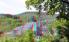 Saarburg Germany 3D (wim hoppenbrouwers) Tags: anaglyph stereo redcyan saarburg germany 3d
