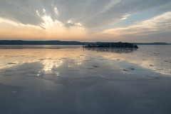 Uppsala, (16-2-2019) (TijmOnTour) Tags: winter ice water snow clouds reflection trees rocks island lake cold sweden uppland nature outdoors landscape view cottage cabin