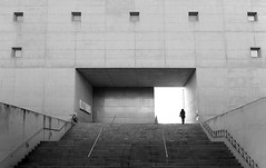 (cherco) Tags: woman granada alone architecture arquitectura solitario solitary silhouette silueta simetria shadow sombra street stairs window mujer minimalism lonely light luz lines lineas up future blackandwhite blancoynegro monochrome loneliness tunnel repetition
