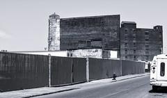 Monoliths (PAJ880) Tags: warehouses ice house site boston ma bw mono sowa industrial