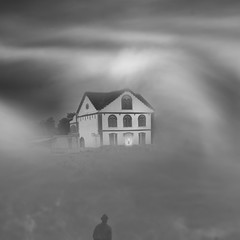 El Hundimiento de la Casa Usher. /The Fall of the House of Usher. (Oscar Martín Antón) Tags: blackandwhite design arquitectura architecture fog niebla ilustracion blancoynegro bnw minimalista minimal conceptual art creative creatividad autorretrato portrait dream surreal symbolism poe illustration melancholy gotico gothic longexposure largaexposicion simbolismo