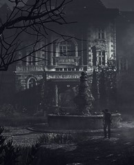 """Family manor"" (L1netty) Tags: theevilwithin tangogameworks bethesdasoftworks bethesda pc game gaming pcgaming videogame reshade screenshot virtual digital 4k character sebastiancastellanos sebastian man male people house trees shadows night monochrome outdoor"
