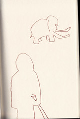 such a little mammoth couldn't be a big deal (Etching Stone) Tags: entwurf skizze buntstift notiz text message tweet sketch sketchbook unplugged raw script paper cartoon caricature computer scan scanner scanned flow impression view people mindset mind