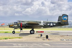 1944 North American B-25 Mitchell N3476G c/n 108-33257 at Livermore Airport California 2019. (17crossfeed) Tags: tondelayo b25 n3476g collingsfoundation livermoreairport airport aviation aircraft airplane boeing b17 northamerican b24 airshow pilot planes planespotting plane p51 p40 landing tower takeoff taxi california claytoneddy 17crossfeed pitts flying flight