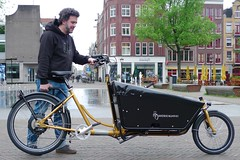 WorkCyclesKr8-gold-OneArmBandit-Neodrive2 (@WorkCycles) Tags: bakfiets cargobike crate derailleur dutch electric kr8 neodrives transportfiets workcycles