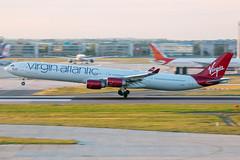 G-VRED // Virgin Atlantic // A340-600 // Heathrow (SimonNicholls27) Tags: gvred virgin atlantic aircraft aeroplane plane vs a340600 340 a340 340600 heathrow egll lhr