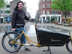 WorkCyclesKr8-gold-OneArmBandit-Neodrive1 (@WorkCycles) Tags: bakfiets cargobike crate derailleur dutch electric kr8 neodrives transportfiets workcycles