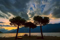 Twilight at Garda (Salmoopen) Tags: dolomite italy misurina braies garda alpedisiusi ranui valdifunes