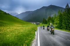 Bikers passing us... (Salmoopen) Tags: dolomite italy misurina braies garda alpedisiusi ranui valdifunes