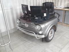 Fiat 500 Desk. (Andrew 2.8i) Tags: car vehicle auto automobile furniture desk classic office