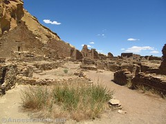 On the West Side of Pueblo Bonito (annestravels2) Tags: pueblobonito chacoculturenationalhistoricalpark americanindian nativeamerican historic history ruin desert walls
