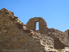 Old Window Frame (annestravels2) Tags: pueblobonito chacoculturenationalhistoricalpark americanindian nativeamerican historic history ruin desert window walls