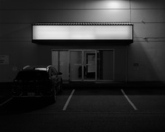 Beaverton, Oregon (austin granger) Tags: beaverton oregon night sign blank parking set film largeformat chamonix