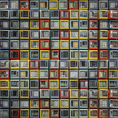 Spaceboxes - I (Paul Brouns) Tags: spacebox container containerwoningen architecture facade facades façade façades abstract abstractarchitecture abstraction abstrakt square almere exhibition windows curtains details canon canonnederland eos5ds paulbrouns paulbrounscom paul brouns commission